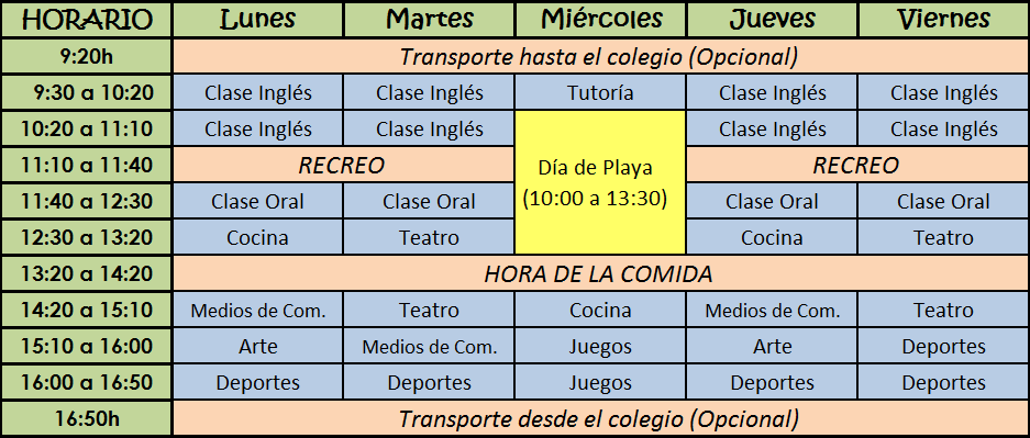 horario-summer-school