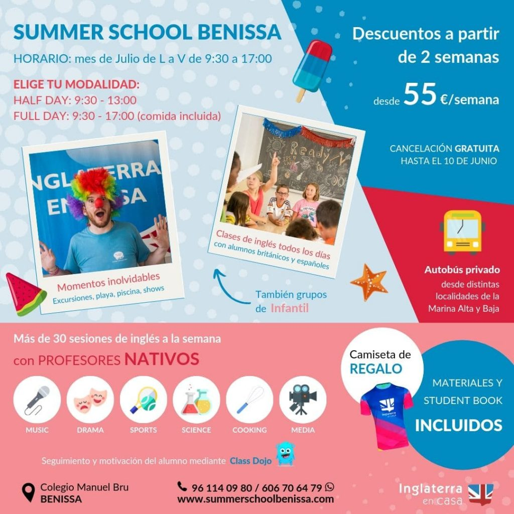 Folleto Summer School Benissa